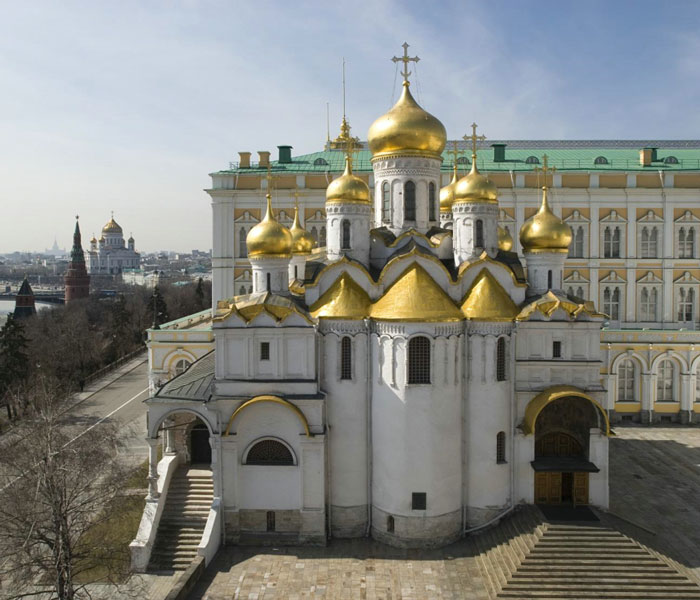 Annunciation Cathedral. View on its east side from the Archangel Cathedral