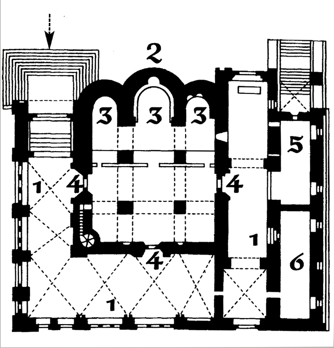 Plan of the Annunciation Cathedral